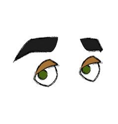 man eyes cartoon vector image vector image