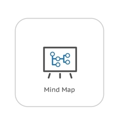 Mind Map Icon Business Concept Flat Design vector image