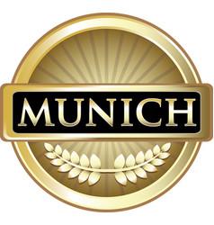 Munich gold label vector