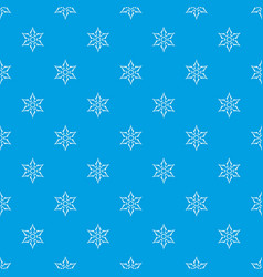 ninja shuriken star weapon pattern seamless blue vector image vector image