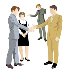 office negotiations vector image