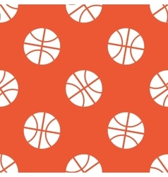 Orange basketball pattern vector image vector image