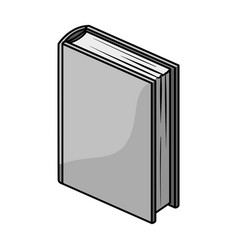 Purple standing book icon in monochrome style vector