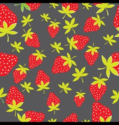 Seamless strawberry pattern berry isolated on vector