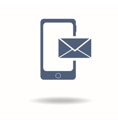 Smartphone email or sms icon Mobile mail sign vector image