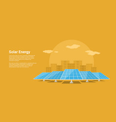 solar energy concept vector image vector image