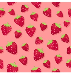 Strawberry seamless pattern pink2 vector