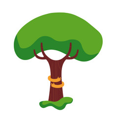 Tree hug concept of green nature love vector
