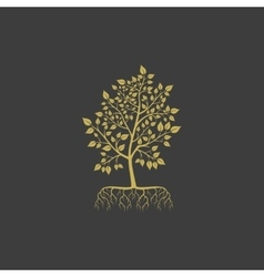 tree with roots logo element vector image vector image