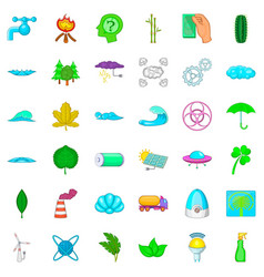 water energy icons set cartoon style vector image vector image