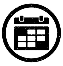 Calendar Rounded Grainy Icon vector image