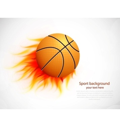 Ball with flame vector image