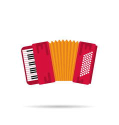 isolated flat icon of the accordion vector image