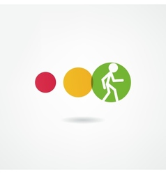 Movement icon vector