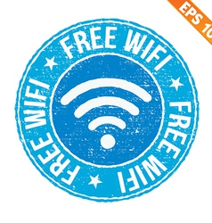 Stamp sticker free wifi collection - - eps1 vector