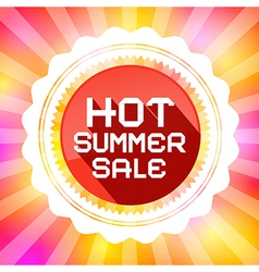 Hot Summer Sale Retro on Colorful Background vector image
