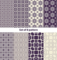 Set of ten arabic patterns vector
