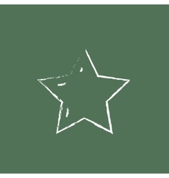 Star rating icon drawn in chalk vector