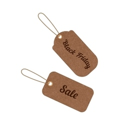 Vintage sale tags from grunge cardboard vector