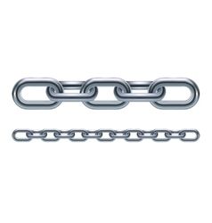 Metal chain links vector