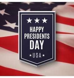 Happy presidents day background vector