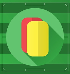 Referee yellow and red round icon vector