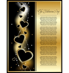 Golden valentine background vector