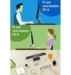 Workplace concept flat vector