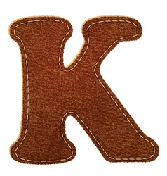 Leather textured letter K vector image