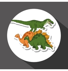 Dinosaur icon design  prehistoric animal vector