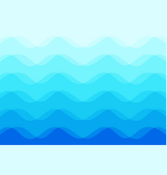 abstract background of blue sea waves vector image