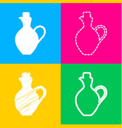 amphora sign four styles of icon on vector image vector image