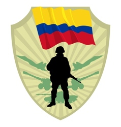 Army of Colombia vector image