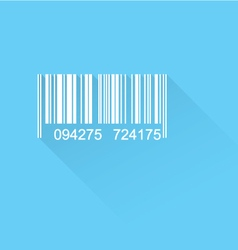 Barcode flat icon vector