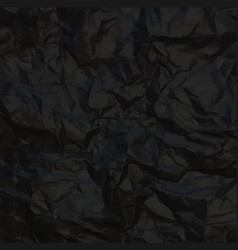 Black crumpled paper vector