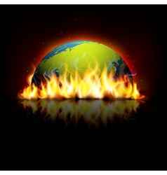 Burning Earth vector image