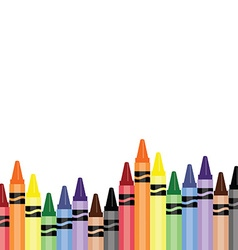 Crayons background vector