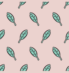 cute leaves seamless pattern vector image