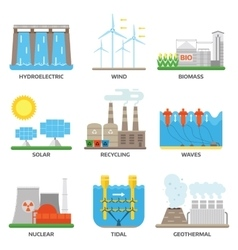 Energy sources vector image vector image