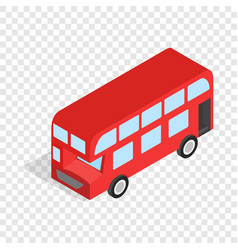 english red bus isometric icon vector image vector image