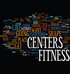 Fitness centers text background word cloud concept vector