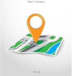 Gps city map with pointers vector