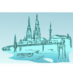 Hamburg vector image
