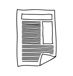 Hand drawing of paper sheet text and graphics vector