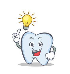 have an idea tooth character cartoon style vector image