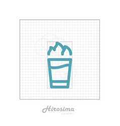 Icon of cocktail with modular grid hirosima vector