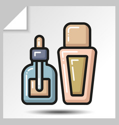 Icons of beauty cosmetics 19 vector