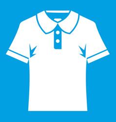 men polo shirt icon white vector image vector image