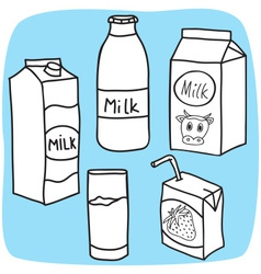 Milk and diary products vector image vector image