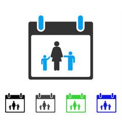 Mother calendar day flat icon vector